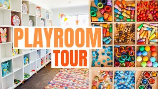 LARGE FAMILY KIDS PLAYROOM TOUR!
