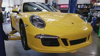 2014 Porsche 991 911 4S Quick oil service overview