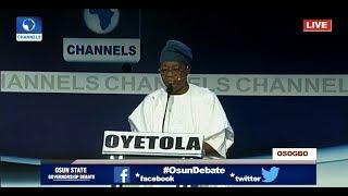 We Don't Pay Half Salaries, We Pay Modulated Salaries – APC's Oyetola #OsunDebate