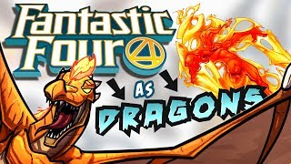 FANTASTIC FOUR DRAGONS! - Drawing Marvels Favourite Family As Monsters