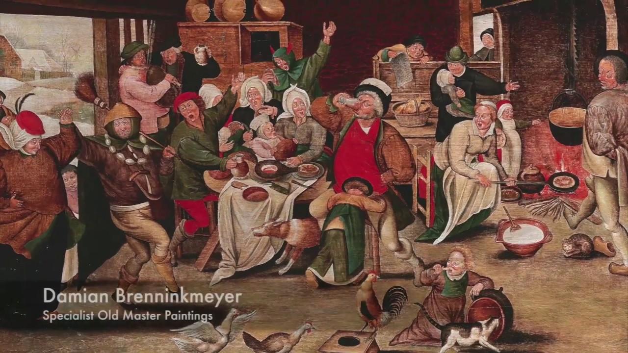 Pieter Brueghel II: Der König trinkt | Gemälde Alter Meister | 24. April 2018