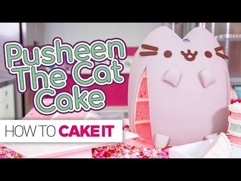PUSHEEN Cat Cake!!   How To Cake It