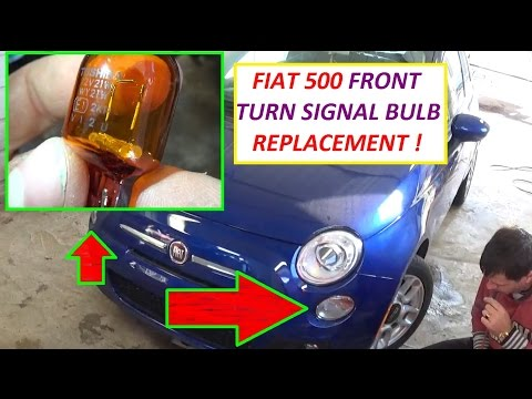 How to Remove and Replace Front Turn Signal Light Bulbs on Fiat 500 and 500L 2008 - 2016
