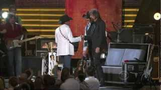 George Strait Singing Boot Scootin' Boogie (HD)   Brooks And Dunn ACM Last Rodeo