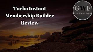 Saya jual Turbo Instant Membership Builder Pro