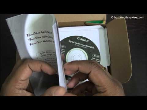 Canon Powershot A810 Review Part 1 full HD: What's in the box