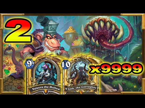 Hearthstone: The Ultra Infinite N'Zoth DK Valeera Deathrattle Rogue Part 2 | Descent of Dragons Wild