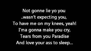 Chris Brown - Beg for it  (Lyrics on screen) karaoke  Fame