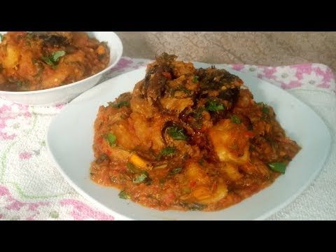 Yam Porridge in Tomato Sauce: How to Make Yam Porridge with Tomatoes