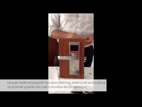 Instalación de cerradura electrónica Inteltec para hotel