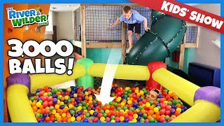 GIANT BALL PIT! Dad Surprises Kids With 3000 Balls In Playroom