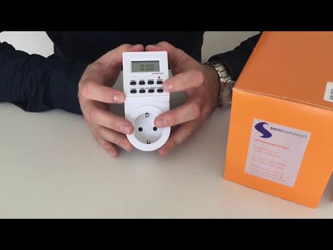 Einstellen der Zeitschaltuhr senkontime575 für unseren Duftspender