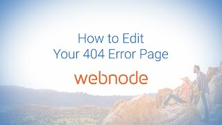 How to Edit Your 404 Error Page