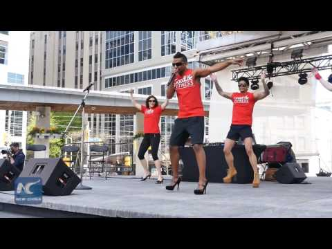 Walk A Mile in Her Shoes 2016 in Toronto: Guys wear high heels to fight violence against women
