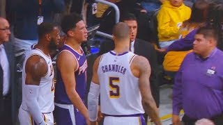 LeBron James Checks On Devin Booker's Injury! Lakers vs Suns