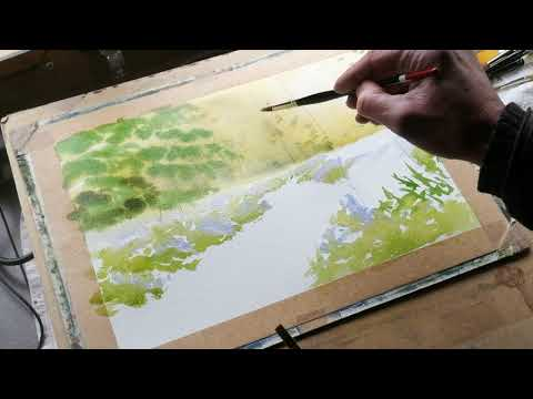 Thumbnail of How to paint a Bluebell Wood using watercolour