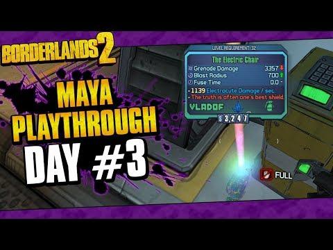 Borderlands 2 | Maya Reborn Playthrough Funny Moments And Drops | Day #3