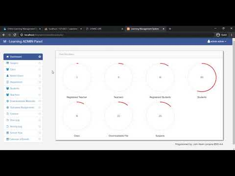 Online Learning Management System using PHP/MySQLi Installation Demo