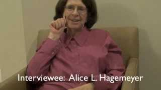 Deaf Visual History Interview:  Alice L. Hagemeyer,  Part Two