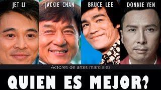 Jet Li vs Jackie Chan vs Bruce Lee vs Donnie Yen // Quien es mejor? Actores artes marciales
