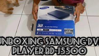Unboxing Samsung DVD Player  3D Blu-ray BD-J5500