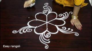latest friday kolam designs with dots || simple muggulu designs || easy rangoli designs with dots