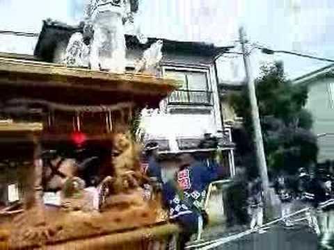 平成19年 堺市陶荒田神社 だんじり東陶器小学校付近2