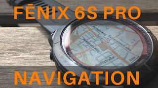 Garmin Fenix 6s Pro Navigation