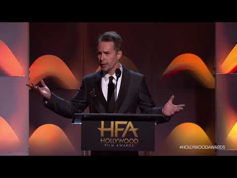 Sam Rockwell Accpts the Supporting Actor Award - HFA 2017