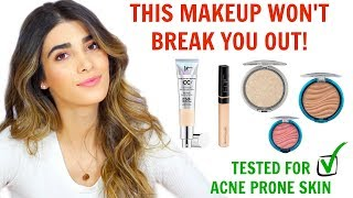 MAKEUP ROUTINE FOR ACNE | Best Makeup for Acne Prone Skin