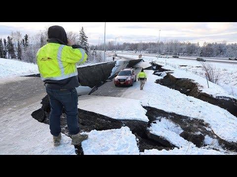 7 0 Alaska Quake Damages Roads, Brings Scenes Of Chaos
