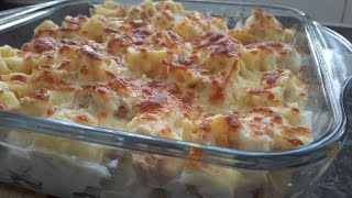 Delicious and simple tuna pasta bake