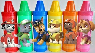 Paw Patrol Vehicles Learn Colors with Giant Crayons Toys Surprises