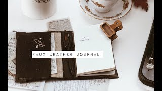 DIY Faux Leather Journal //