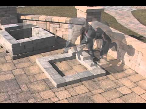Square Fire Pit Installation
