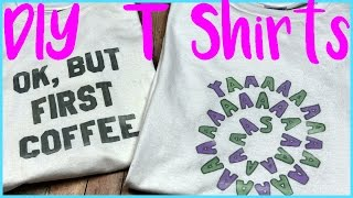 DIY Crafts: DIY Graphic T Shirts - No Transfer Paper {Simple Craft Idea}
