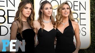 The Stallone Sisters Talk Being Miss Golden Globes & Red Carpet Partying  PEN  People
