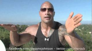 The rock sings John cena theme song ( The rock goes Crazy )