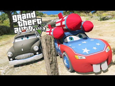 Grand Theft Auto V Mods - SHERIFF VS LIGHTNING MCQUEEN (GTA 5 Disney CARS MOD)