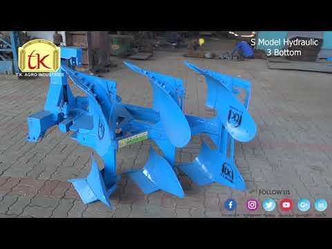 S Model Three Bottom Hydraulic Plough