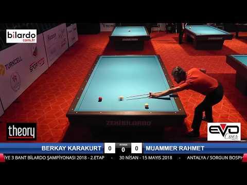 MUAMMER RAHMET & BERKAY KARAKURT Bilardo Maçı - 2018 ERKEKLER 2.ETAP-Final