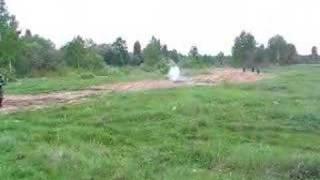 Бросок гранаты м24 на 60 метров.
