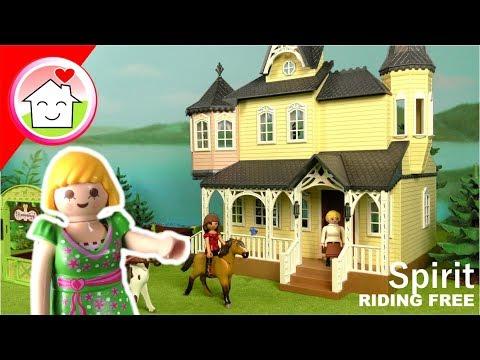 Playmobil Pferde Spirit Riding Free - Wohnhaus und Pferdebox Unboxing - Familie Hauser