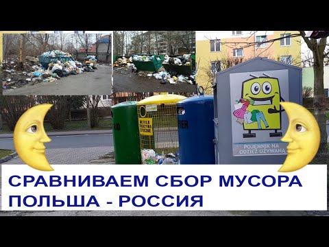 Жизнь в Польше Как сортируют мусор в Польше Сравниваем  Польша - Россия