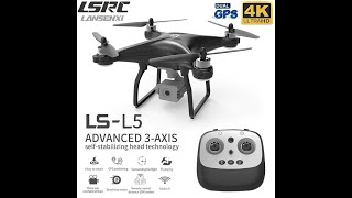 LSRC New GPS RC Drone L5 4K HD Camera Professional Quadcopter Brushless Motor Three Axis Gimbal Stab