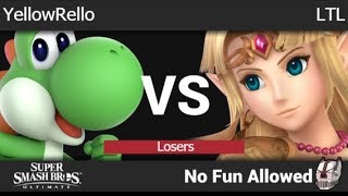 NFA 3 - YellowRello (Yoshi) vs LTL (Zelda) Losers - SSBU