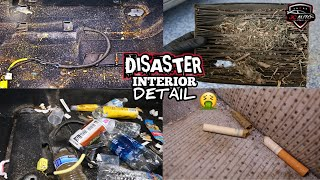 Deep Cleaning A Smokers DIRTY Car | DISASTER Interior Detailing & Satisfying Transformation!!