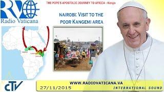 Visita al barrio marginal de Kangemi, en Nairobi