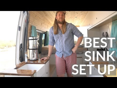 VAN TOUR | BEST KITCHEN SINK SET UP | DIY SPRINTER VAN