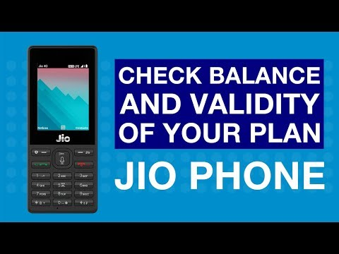 How to Check Balance and Validity of your Plan on Jio Phone?